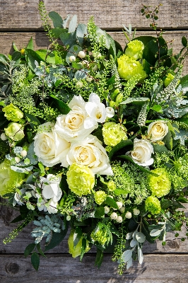 Green and White Posy